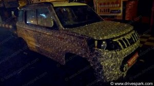 New Mahindra TUV300 BS-VI Spied Testing Ahead Of Launch In India