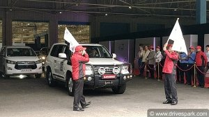 Toyota Five-Continents Drive From India To Vietnam Flagged Off In Bangalore