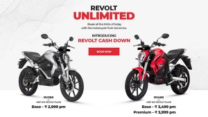 Revolt Motors Introduces One-Time Payment Plan For RV300 And RV400 Electric Motorcycles