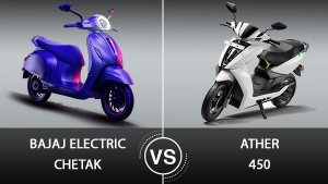 Bajaj Electric Chetak Vs Ather 450: An Initial Comparison Of Two Premium Electric Scooters