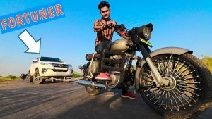 Video: Royal Enfield Classic 350 Towing Toyota Fortuner; Its Effect On The Engine Explained