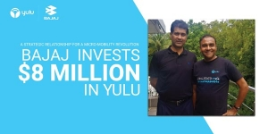 Bajaj Auto Partners With Electric Mobility Start-Up Yulu: Invests 57.27 Crore