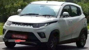 2020 Mahindra KUV100 BS-VI Spied Testing Ahead Of Launch Next Year: Spy Pics & Details