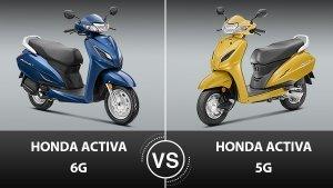 Honda Activa 6G Vs Honda Activa 5G Comparison: Here Are All The Significant Differences!
