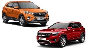 Hyundai Creta Vs Kia Seltos Sales In December 2019: Creta Regains Best-Selling Mid-Size SUV Title