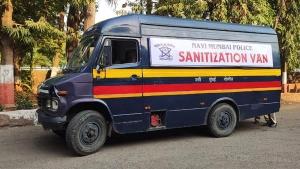 Mumbai Police Turn Their Vans Into Mobile Sanitisation Units