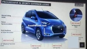 Datsun Redi-GO Facelift Photos, Variants & Features Leaked Ahead Of India Launch
