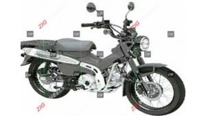 Honda CT125 Hunter Cub Moped Patent Filed In India