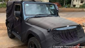 2020 Mahindra Thar Interiors Spotted Ahead Of Unveil On August 15: Spy Pics & Other Details