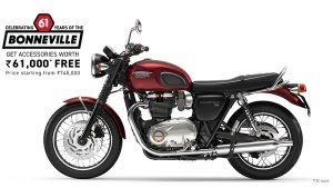 Triumph Bonneville August Offers: Free Accessories On All Models