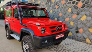 2020 Force Gurkha Spotted In Red Colour Ahead Of India Launch: Spy Pics & Other Details