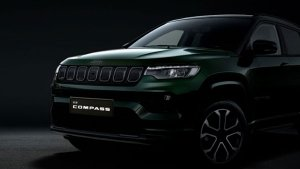 2021 Jeep Compass Facelift First Official Teaser Released: Features A New Colour Scheme!