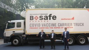 BharatBenz 'BSafe Express' Reefer Truck Unveiled: Made-In-India COVID-19 Vaccine Transport Truck