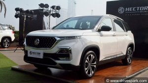2021 MG Hector Facelift Price Hike On Select Variants: Here Is The New Price List!