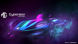 MG Motor's All-Electric Cyberster Sports Car Concept Teased: Unveiling On March 31, 2021