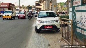 Mahindra eKUV100 Spied Testing In Bangalore Ahead Of Launch: Pics & Details