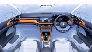Skoda Kushaq Interiors Sketches Officially Revealed Ahead Of India Launch