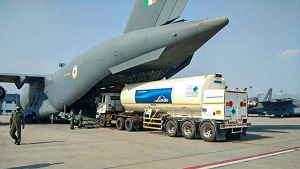 Indian Air Force C-17 & IL-76 Aircraft Transport Oxygen Trucks For COVID-19 Relief Operations