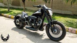 Royal Enfield Godzilla Custom Bobber Based On Thunderbird 500 From Neev Motorcycles
