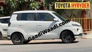 Upcoming Toyota HyRyder Spied Testing: Maruti Suzuki WagonR Based Electric Vehicle