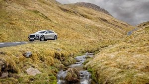 Jaguar I-Pace Climbs Britain's Highest Surfaced Road On A Single Charge: Read More To Find Out!