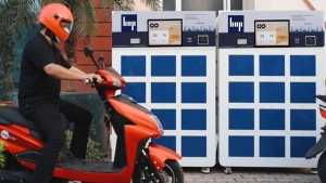 India's First Electric Scooter Battery Swapping & Charging Station Launched By Hop Electric Mobility