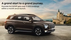 Hyundai Alcazar Receives More Than 11,000 Bookings — Milestone Achieved In Just One Month