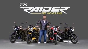 TVS Raider Launched In India At Rs 77,500: 125cc Engine, Connected Technology, USB Slot Available