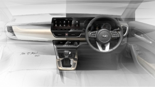 New Kia SUV (SP2i) Interior Design Sketches Officially Revealed — Launch Expected Soon