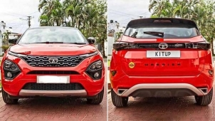 Tata Harrier Painted Range Rover Red By Kitup Automotive — Chic And Up-Market!