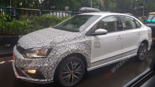 Volkswagen Polo And Vento Facelift Snapped Testing Again