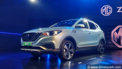 MG ZS EV Electric SUV Unveiled For Indian Market