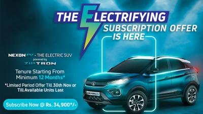 Tata Nexon EV Limited Time Subscription Offer