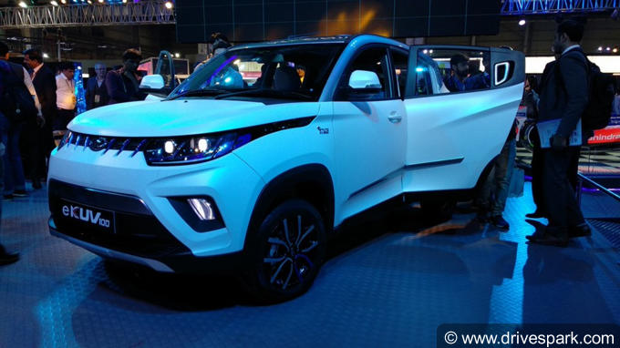 Auto Expo 2018: Mahindra KUV100 Electric Launch Details, Specifications, Features