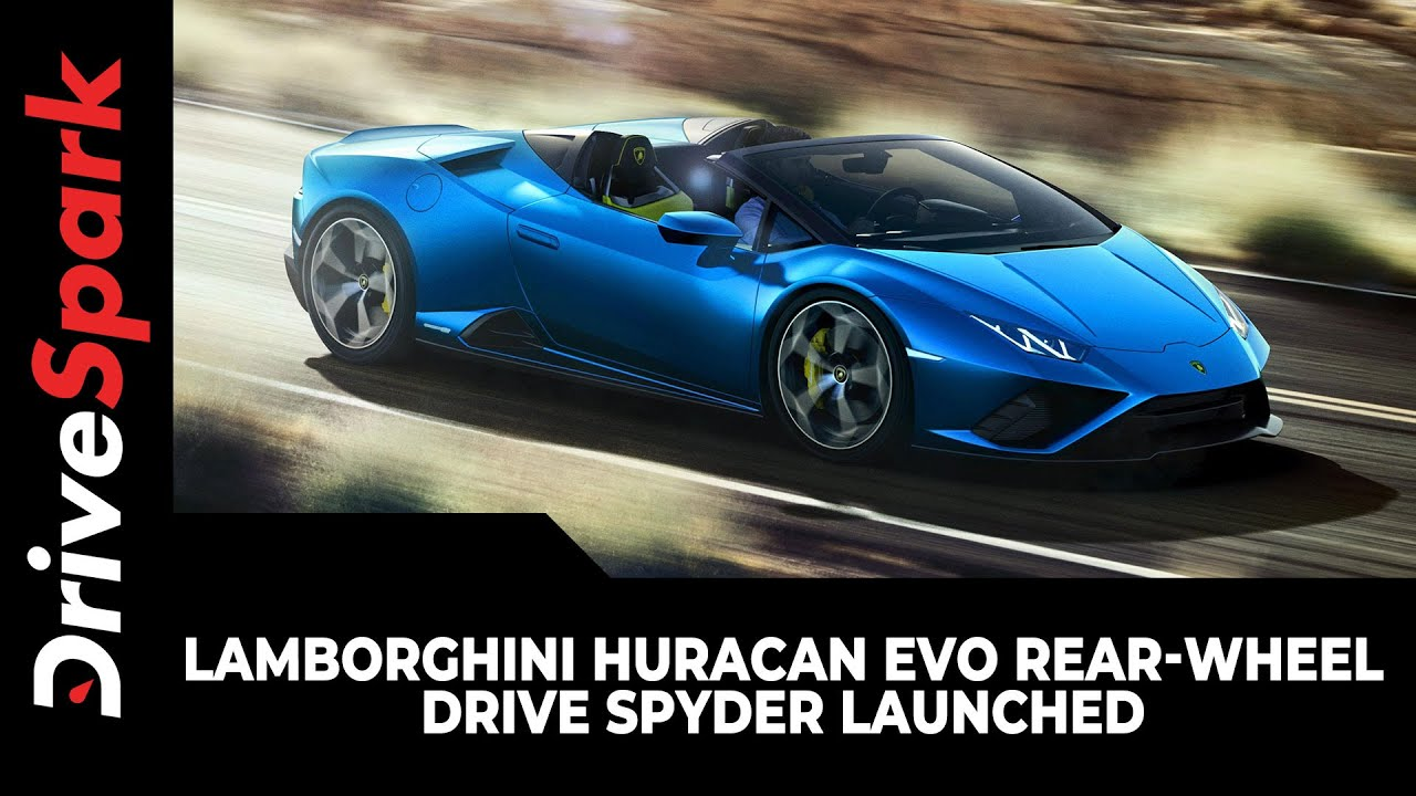 Lamborghini Huracan EVO Rear-Wheel Drive Spyder Launched | Prices, Specs & Other Details